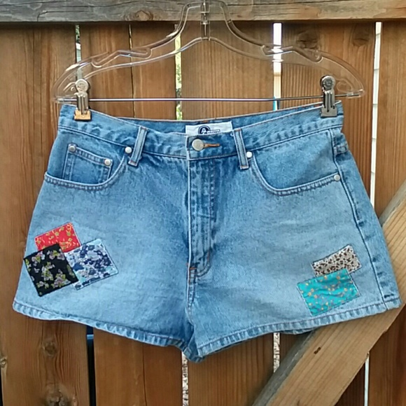 Arizona Jean Company Pants - Vintage high rise denim patchwork shorts size 30
